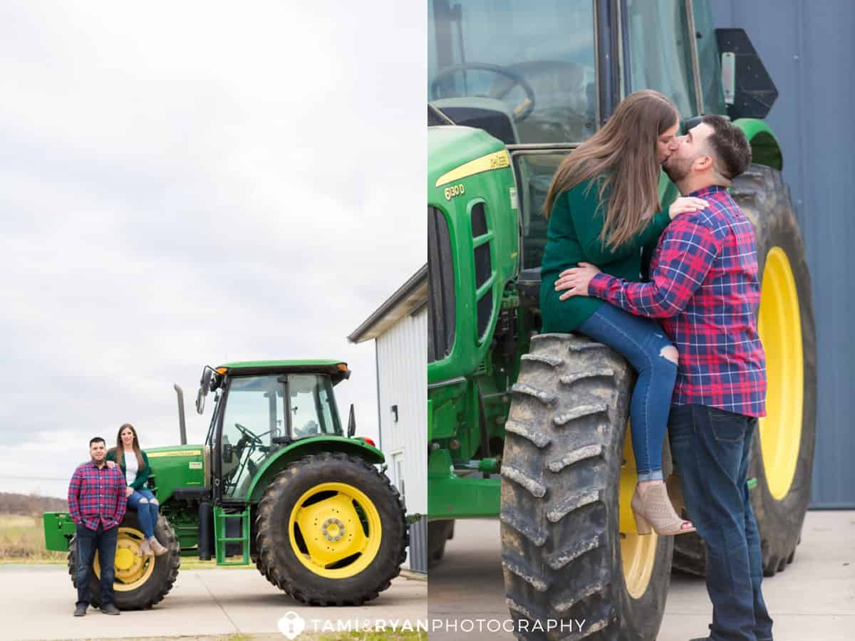 rustic farm engagement photography