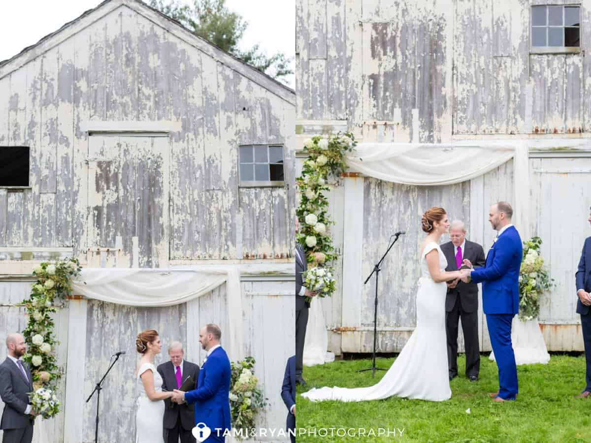 updike farmstead rustic ceremony