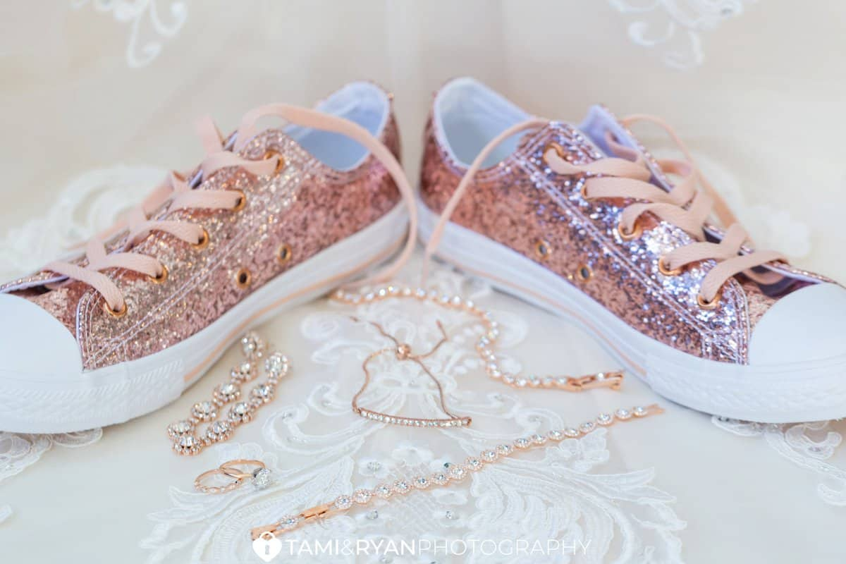 bride jewelry converse shoes