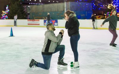 A Surprise Proposal at the Blue Cross River Rink Winterfest