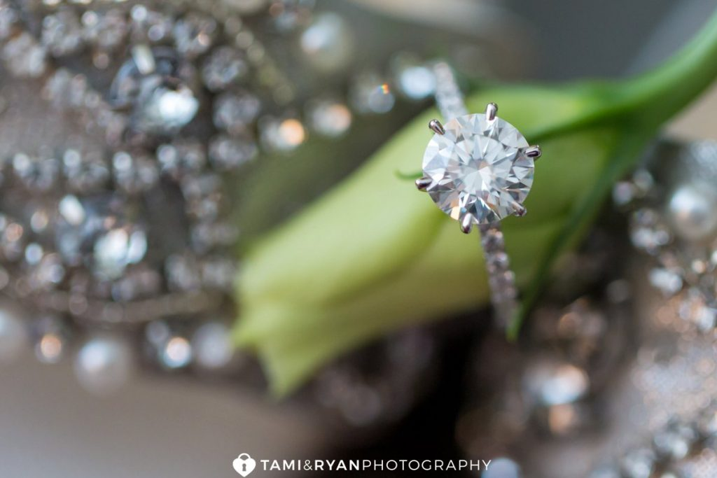 engagement ring flower