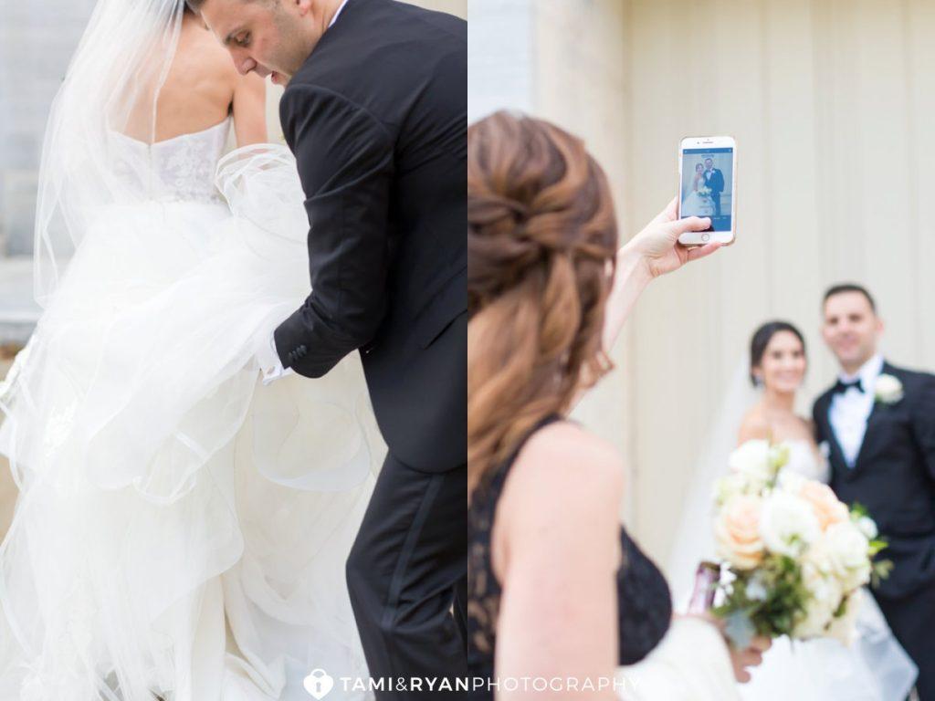 merchants exchange philadelphia bride groom portraits