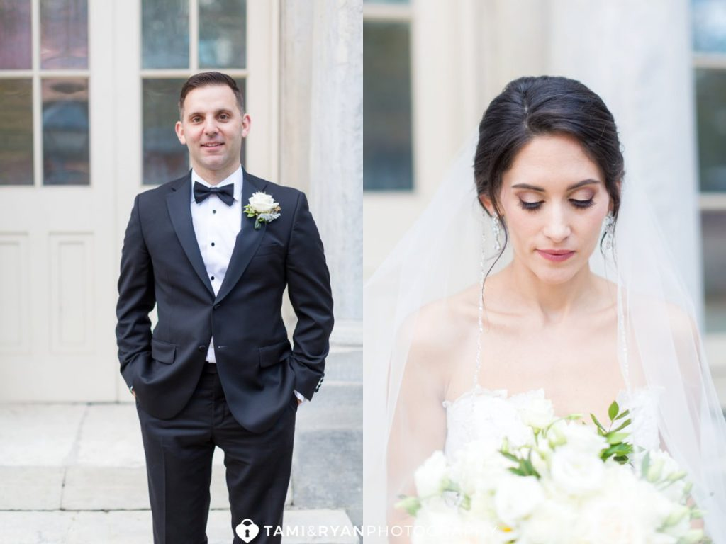 merchants exchange philadelphia bride groom portraits