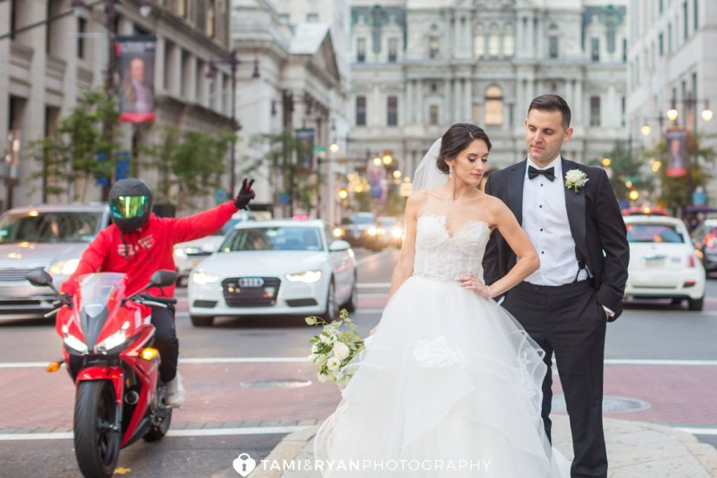 bride groom philadelphia city hall portraits