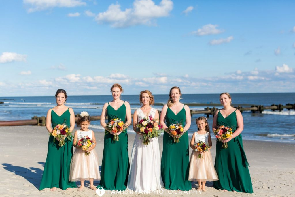 ocean city bridal party photography