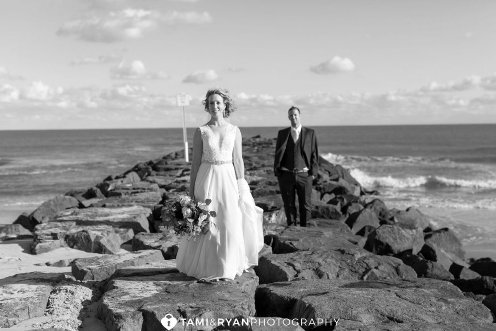 bride groom ocean city photography