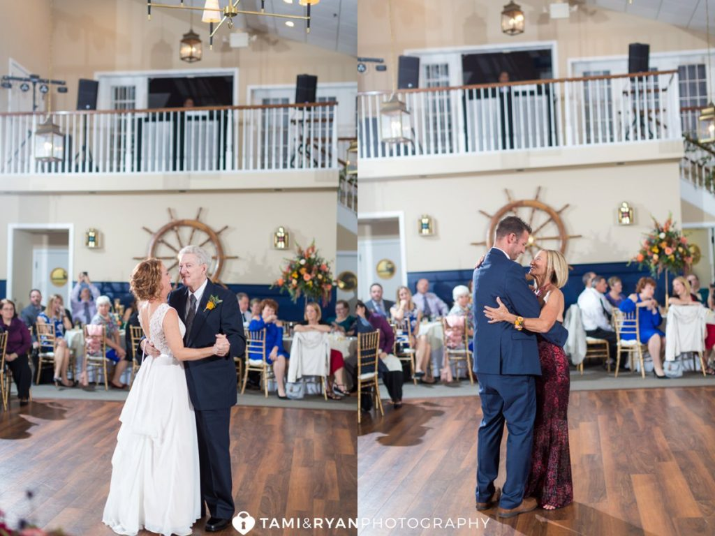 ocean city yacht club wedding reception
