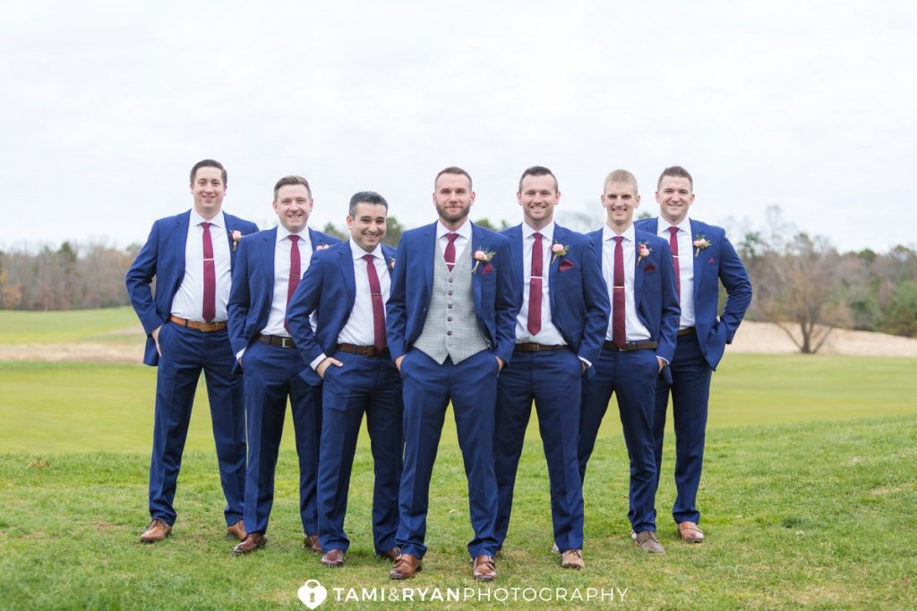 groom groomsmen golf course