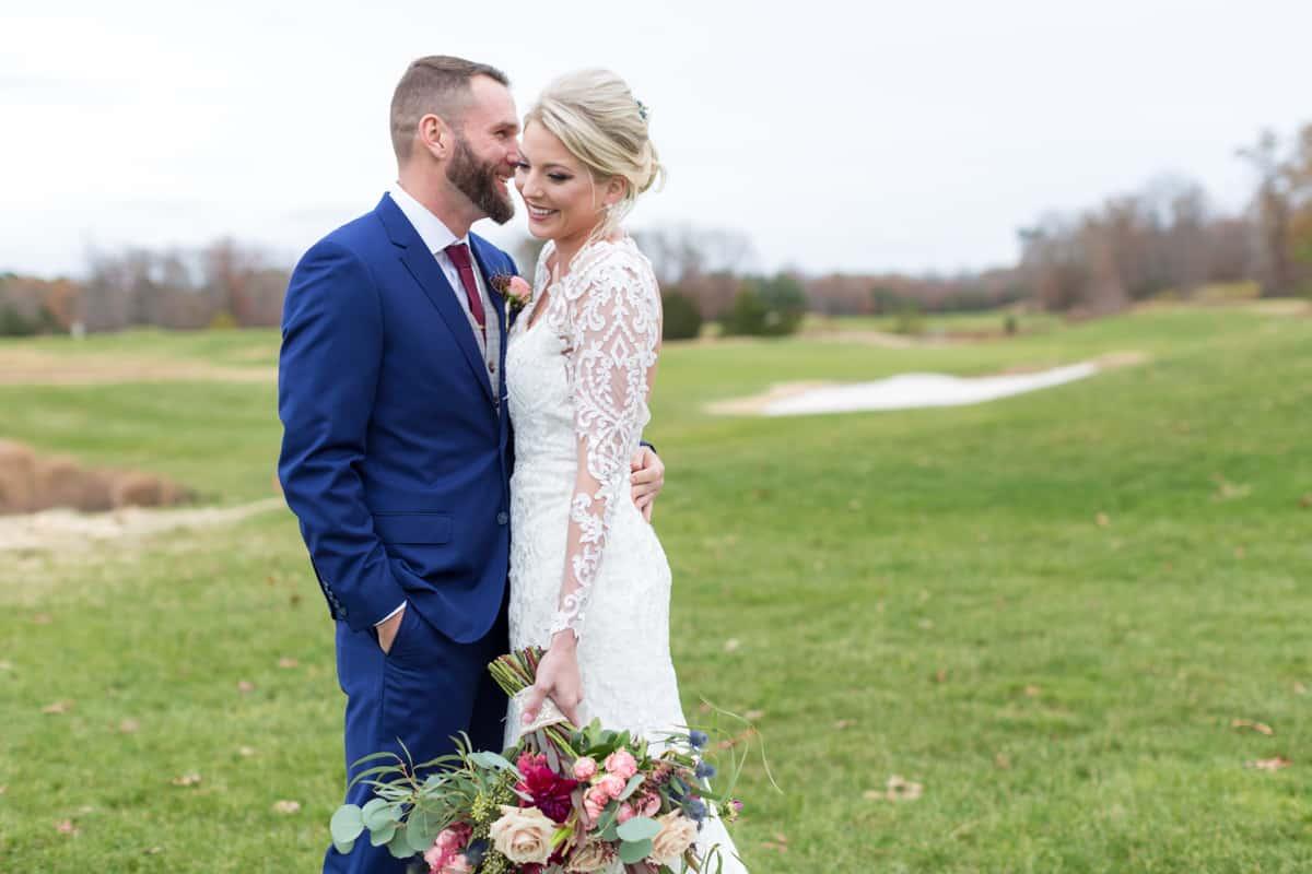 scotland run bride groom golf wedding
