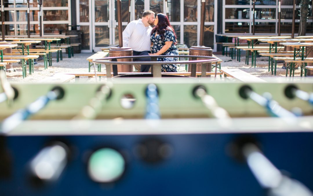 Fun Frankford Hall Engagement Photography | Gabrielle & Marc