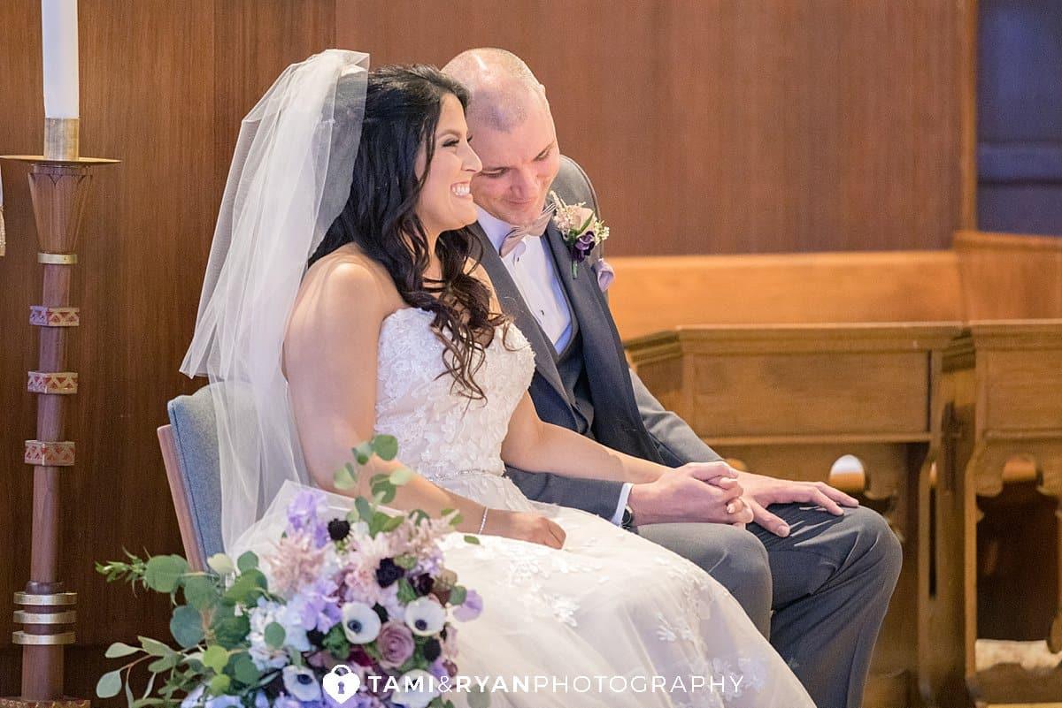 catholic ceremony bride groom