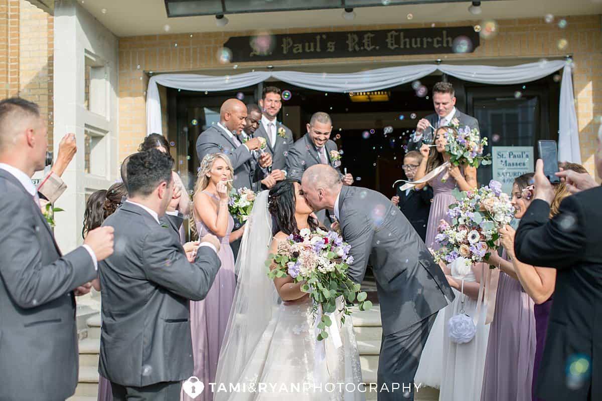 bride groom bubble exit ceremony