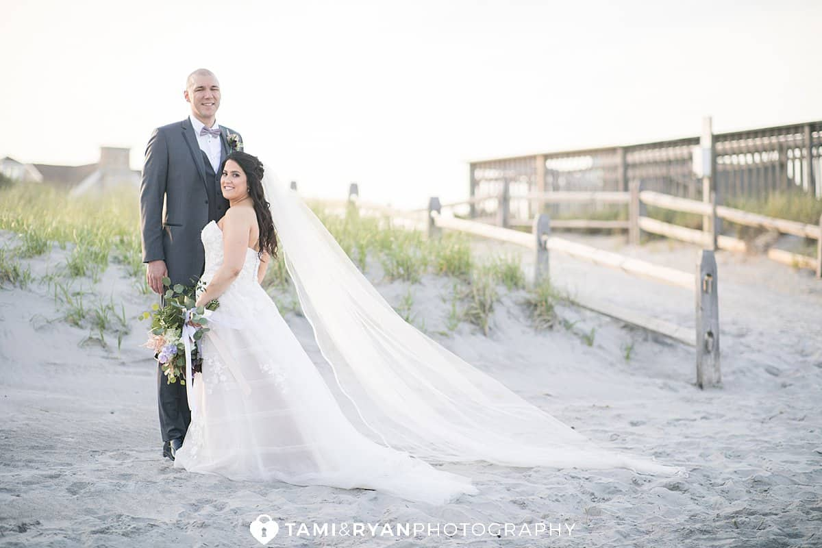 bride groom portrait stone harbor wedding