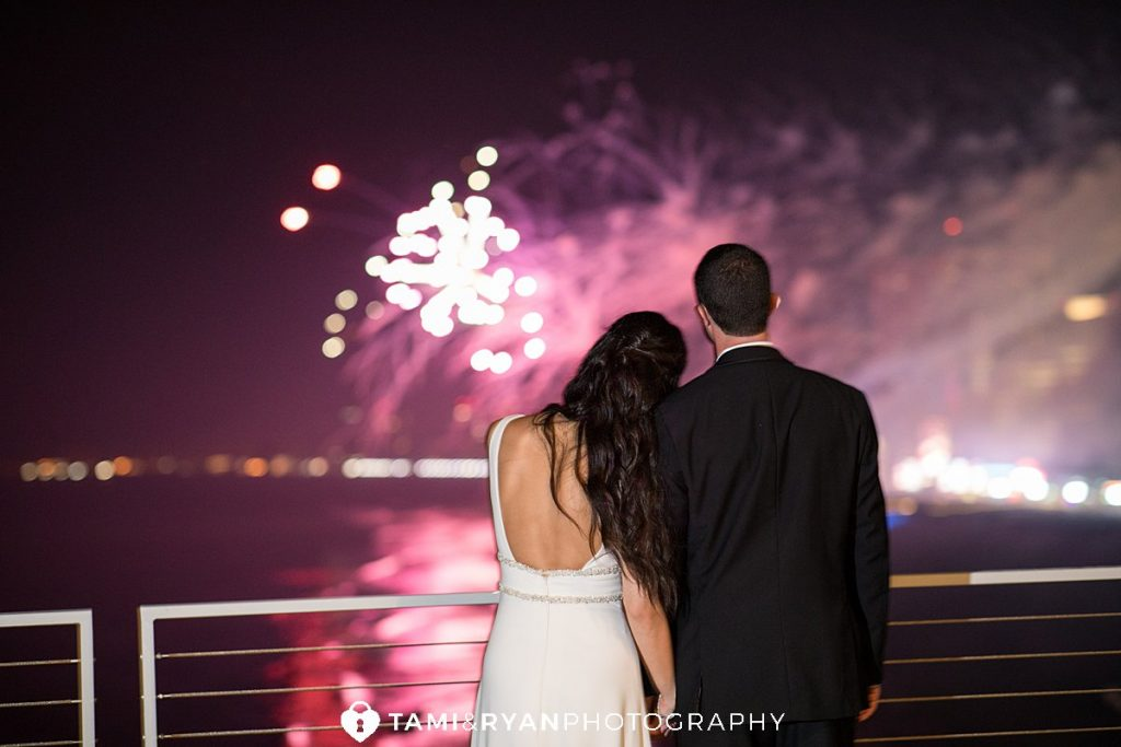 wedding reception one atlantic events fireworks