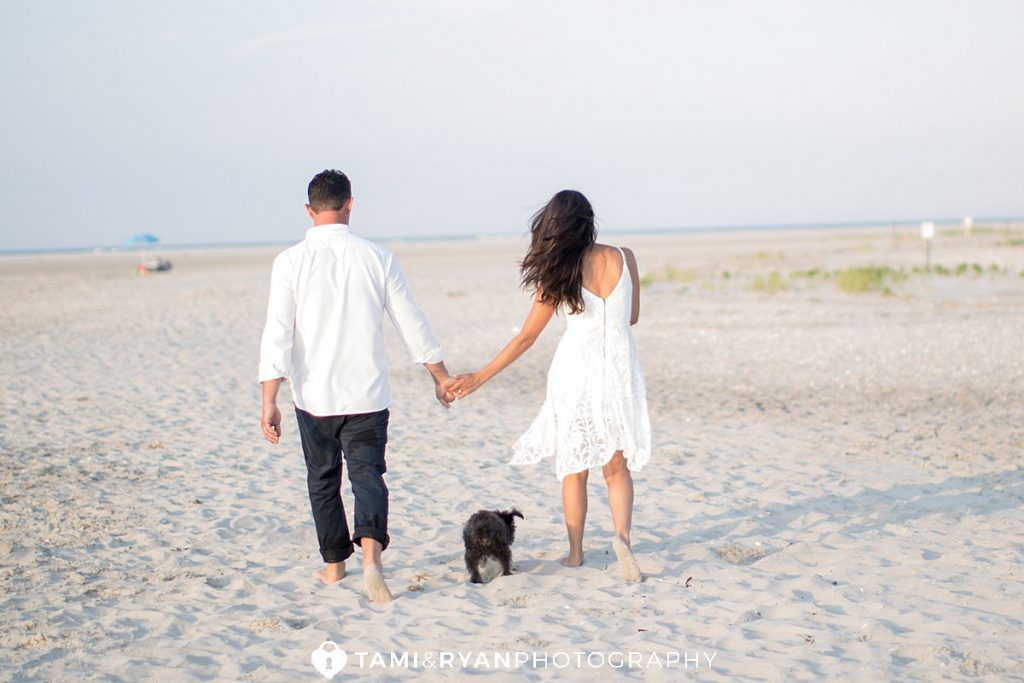 corsons inlet engagement photography