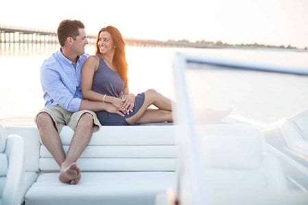 boat engagement photography