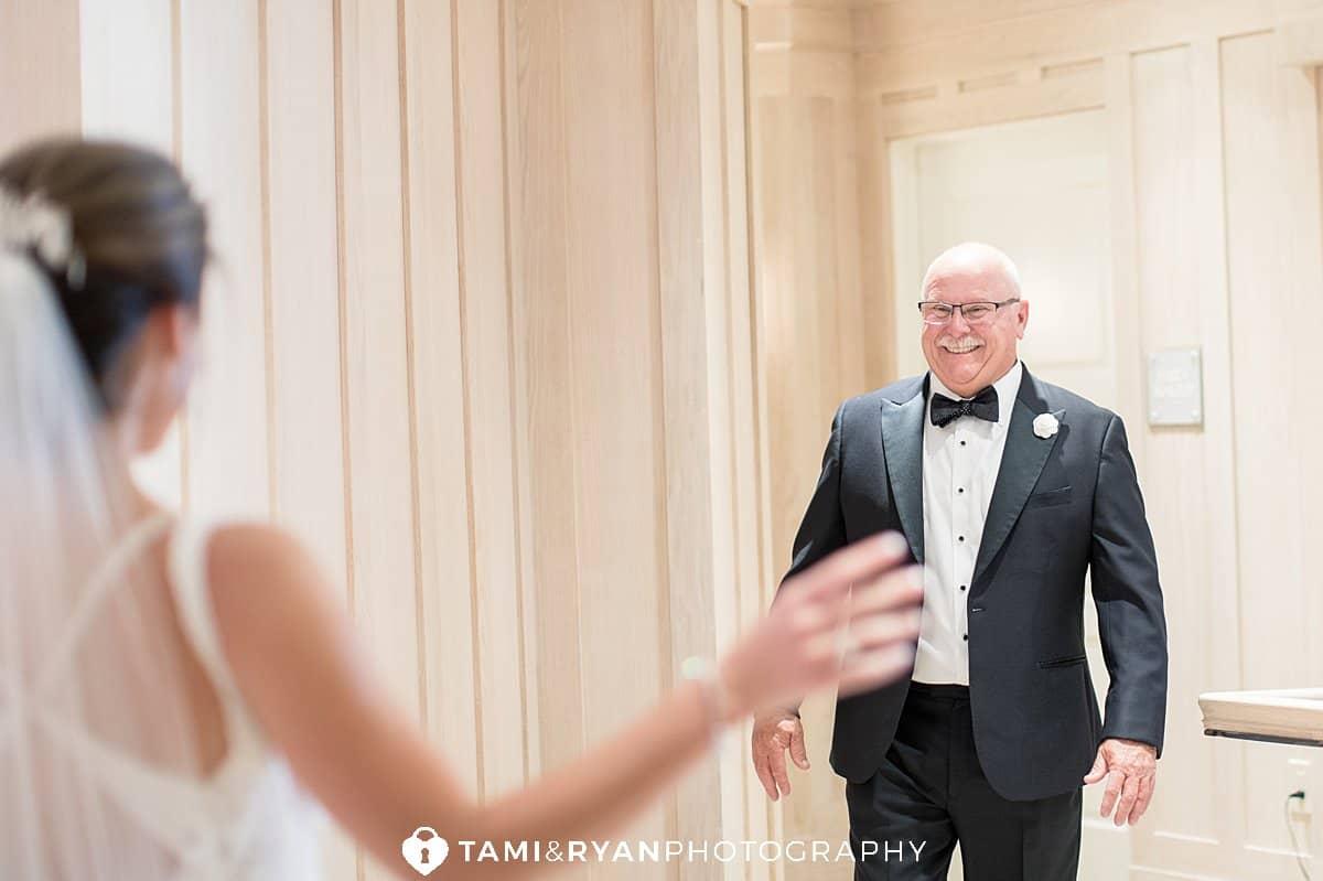 bride dad first look
