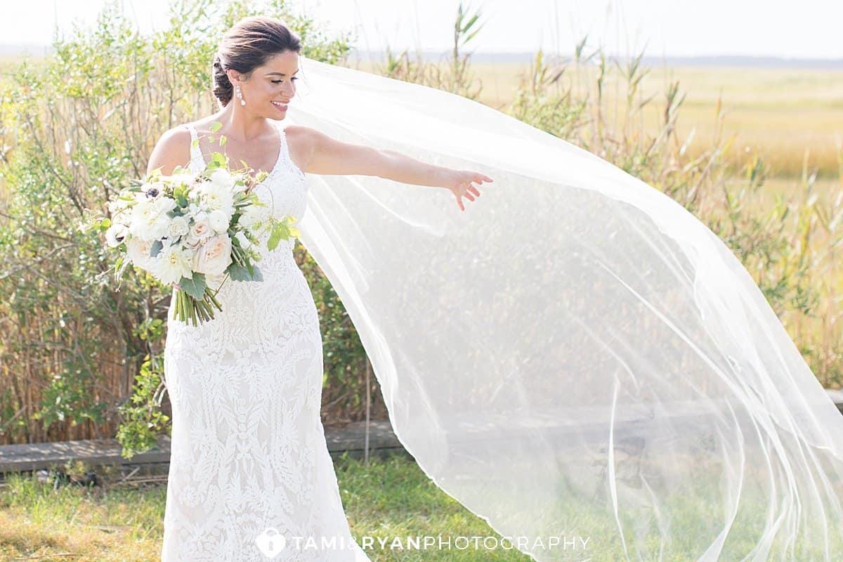 bride groom portraits wetlands institute