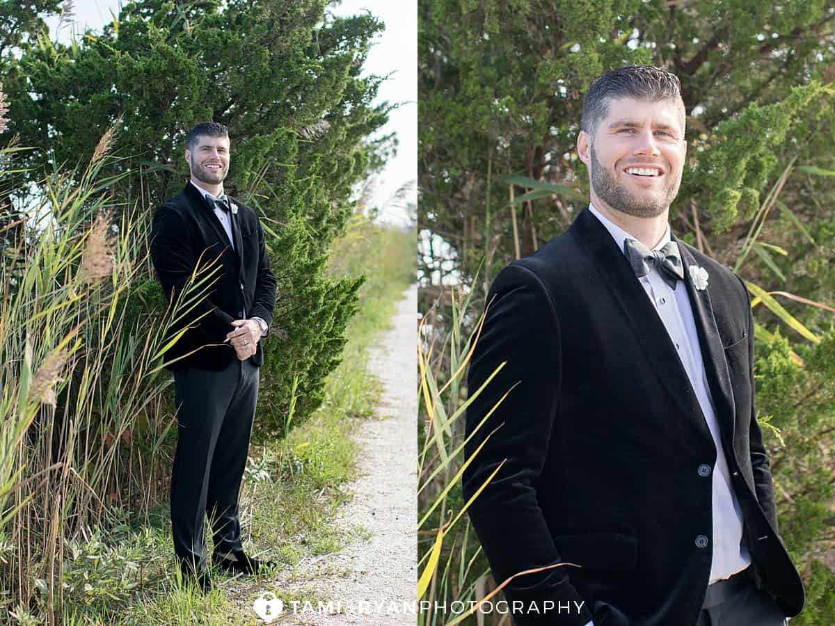 bride groom portraits wetlands institute