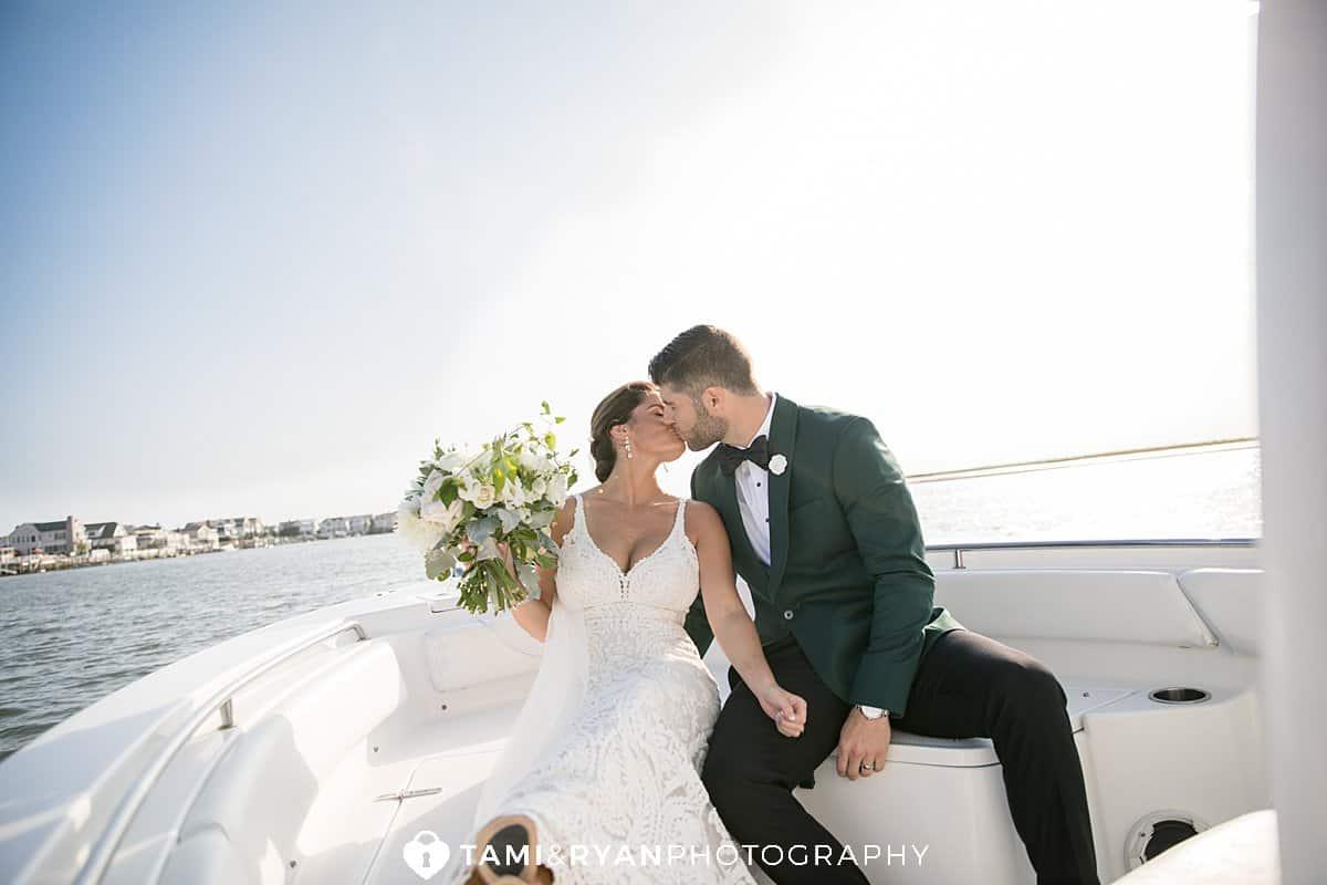 bride groom boat portraits