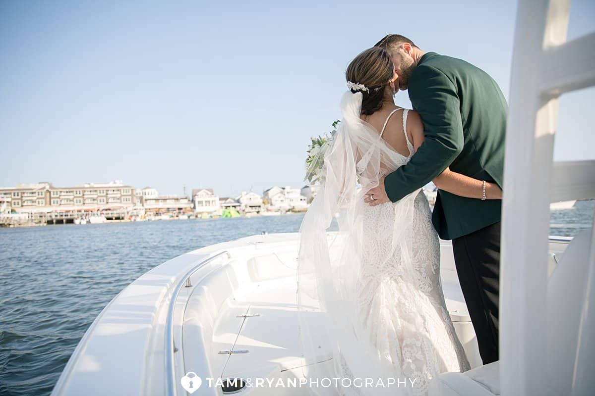 bride groom boat portraits
