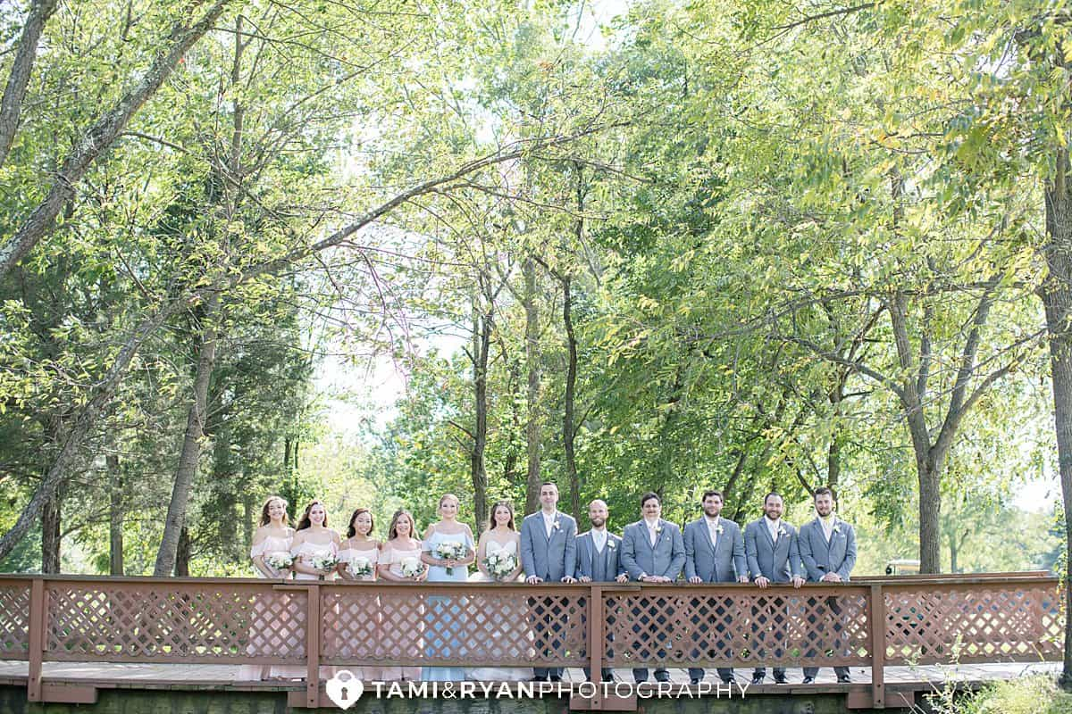 bridal party portraits sweet water country club