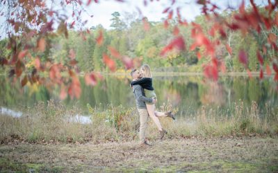 A Fall Engagement Session at Batsto Village | Allison + Brian