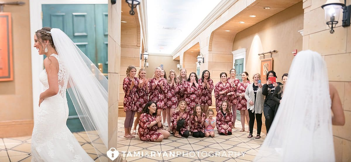 bride bridesmaids reveal