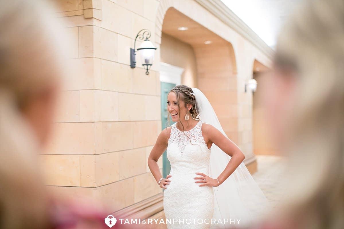 bride bridesmaids reveal