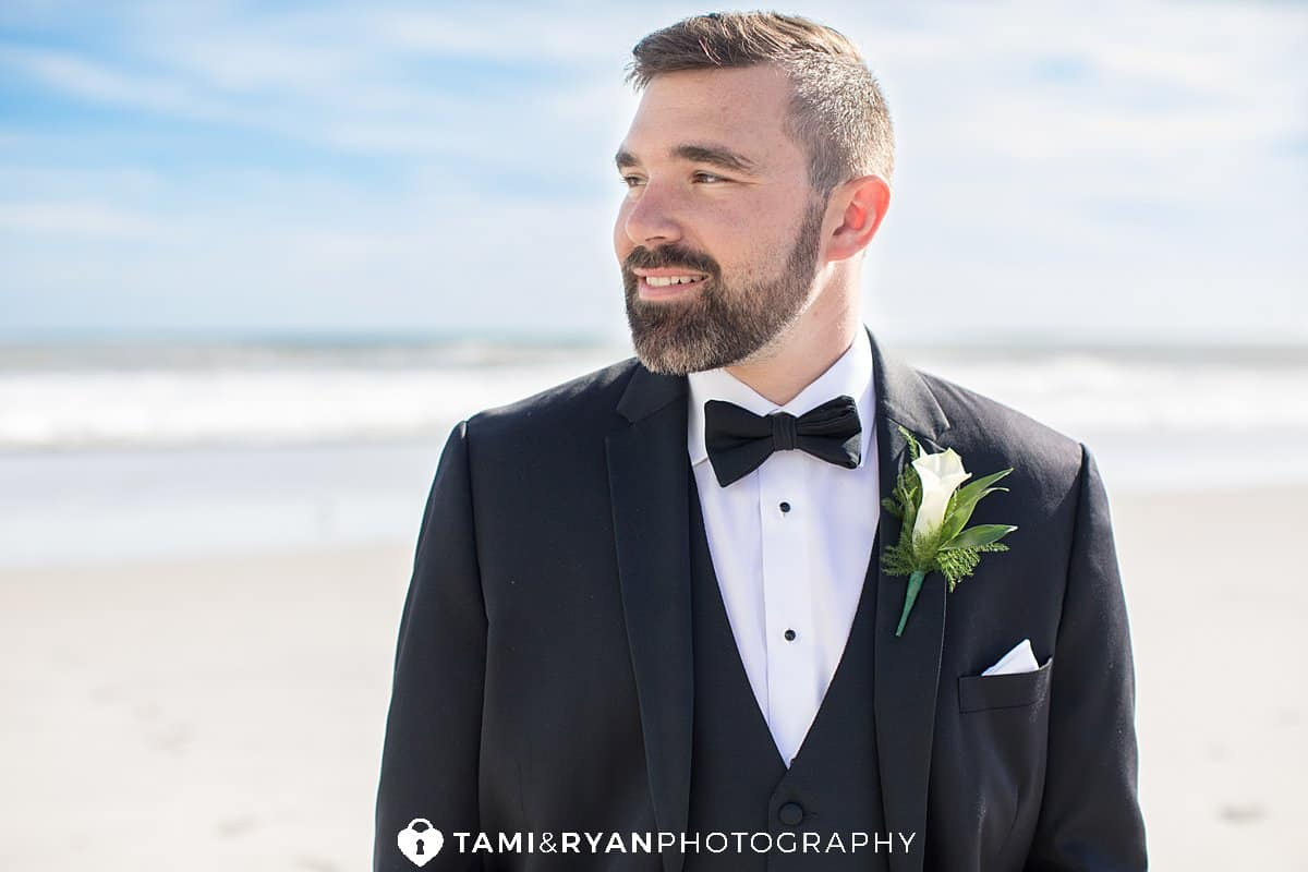bride groom beach portraits