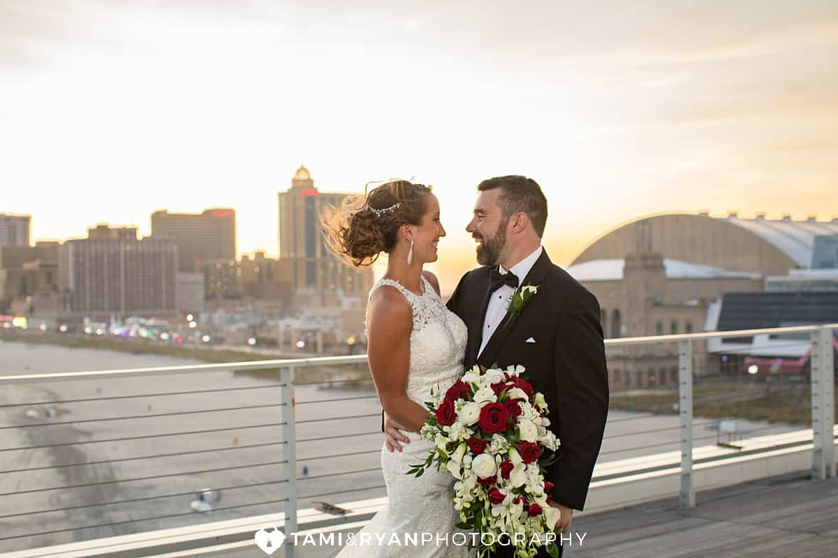 bride groom sunset portraits