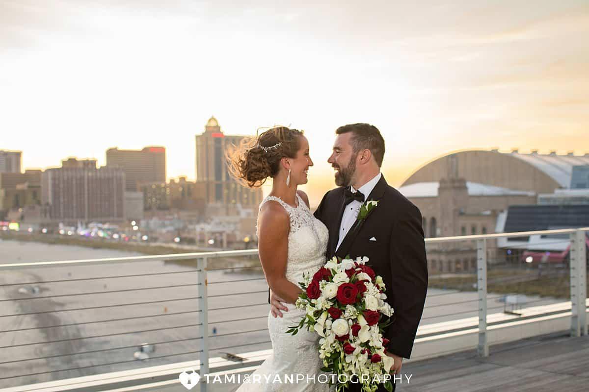 bride groom sunset portraits