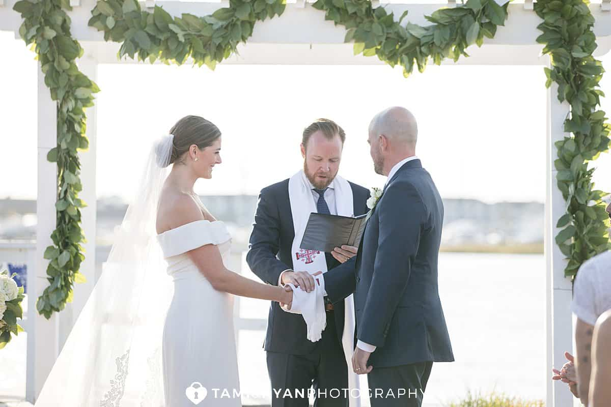 yacht club stone harbor ceremony
