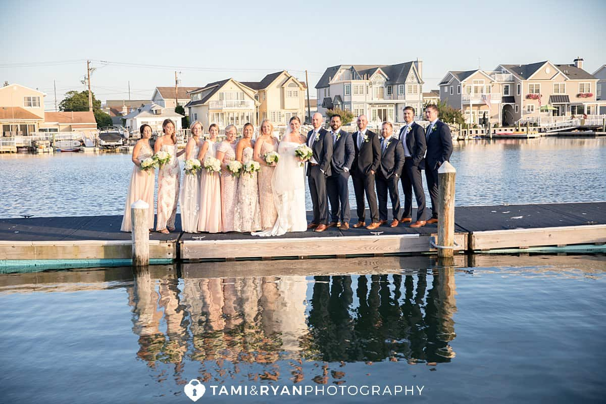 bridal party stone harbor yacht club