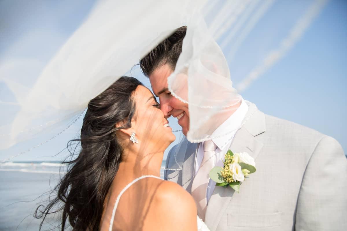 bride groom veil