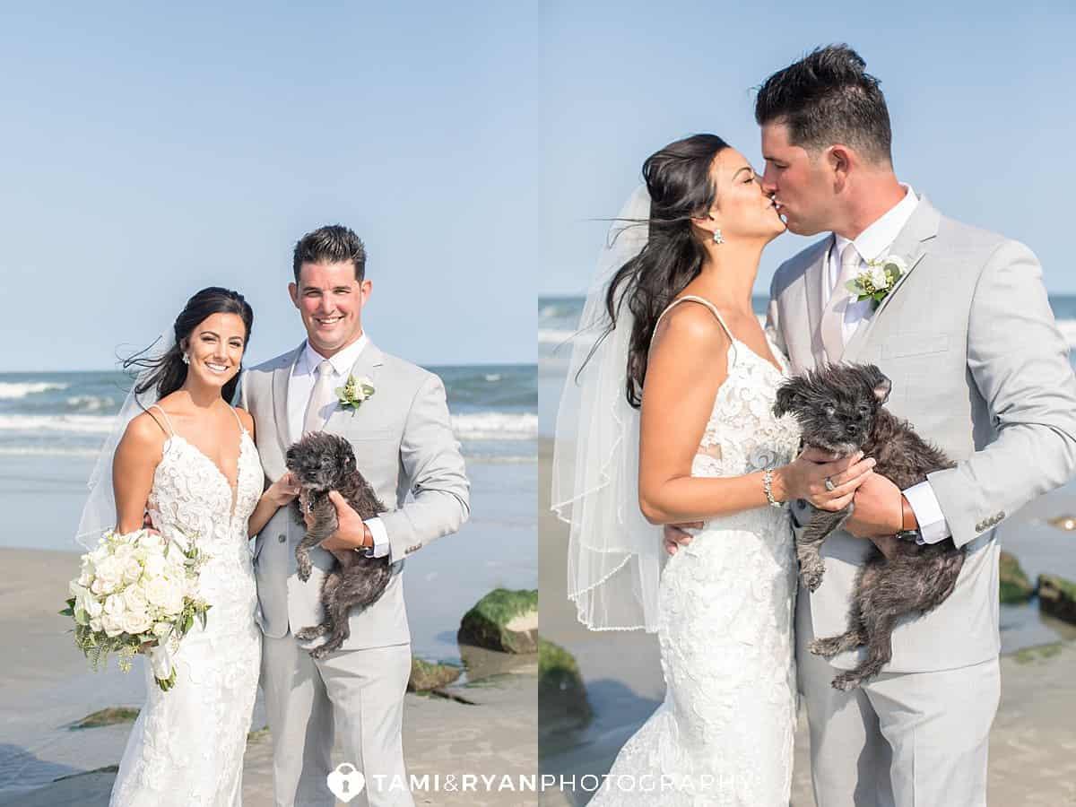 bride groom dog fur baby