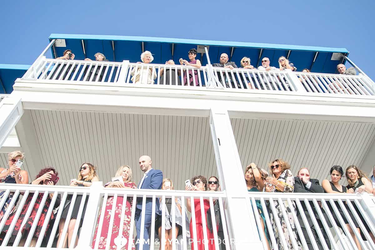 yacht club sea isle city wedding ceremony