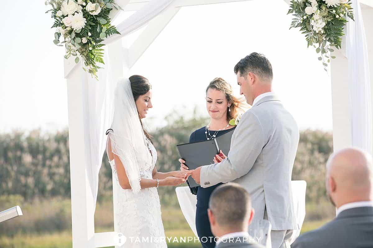 yacht club sea isle city wedding ceremony
