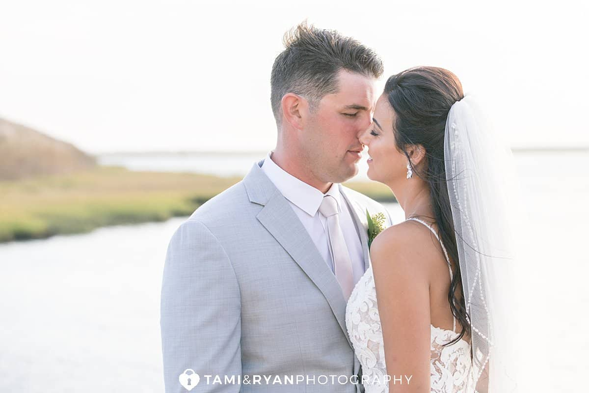 yacht club sea isle city bride groom portraits