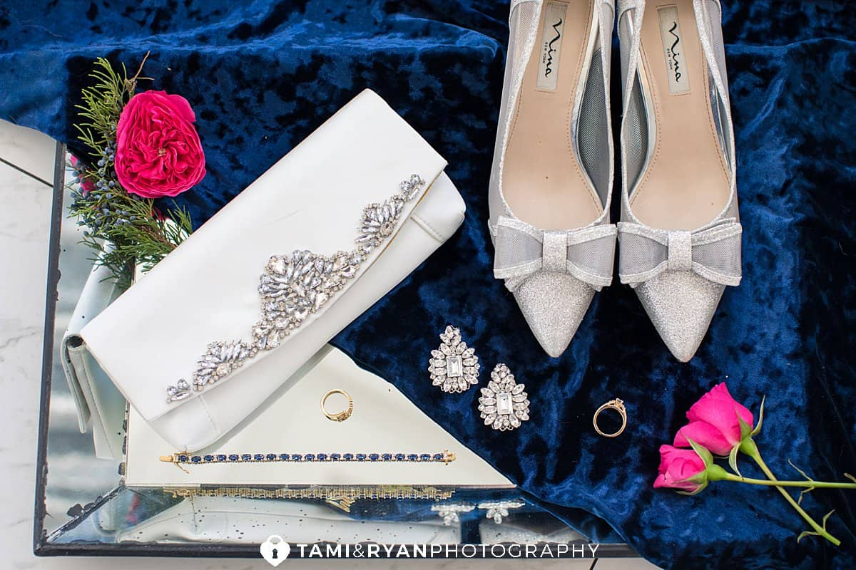 elegant winter glam wedding details