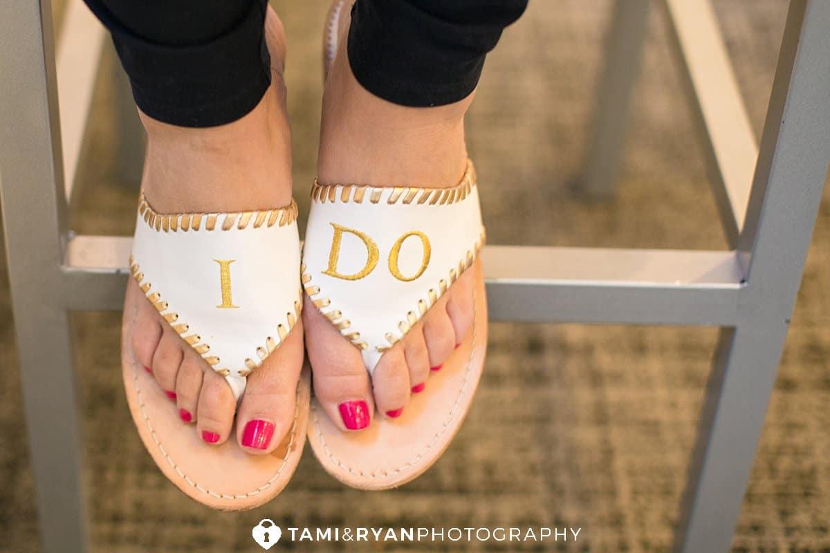 bride i do sandals