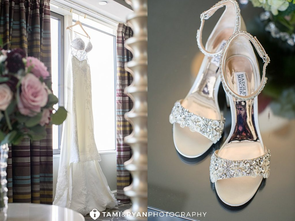 bride shoes dress
