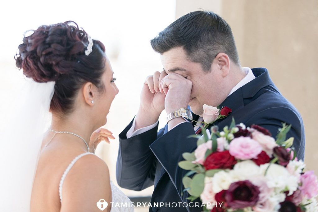bride groom first look atlantic city