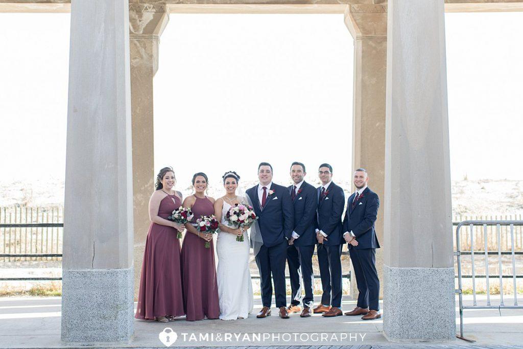 bridal party portraits atlantic city