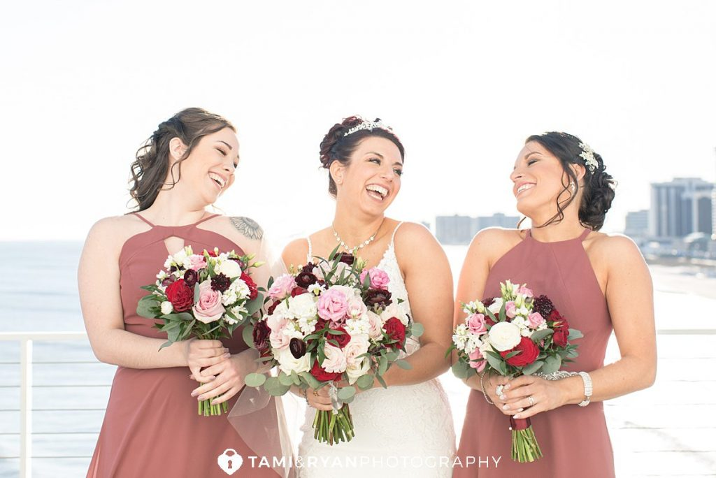 bridal party portraits atlantic city