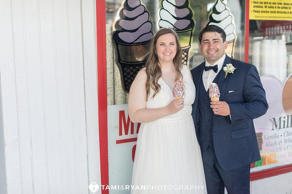 maple shade custard bride groom