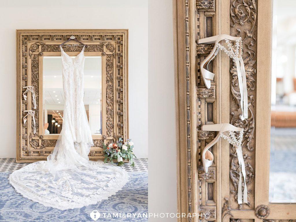 brides dress renault winery