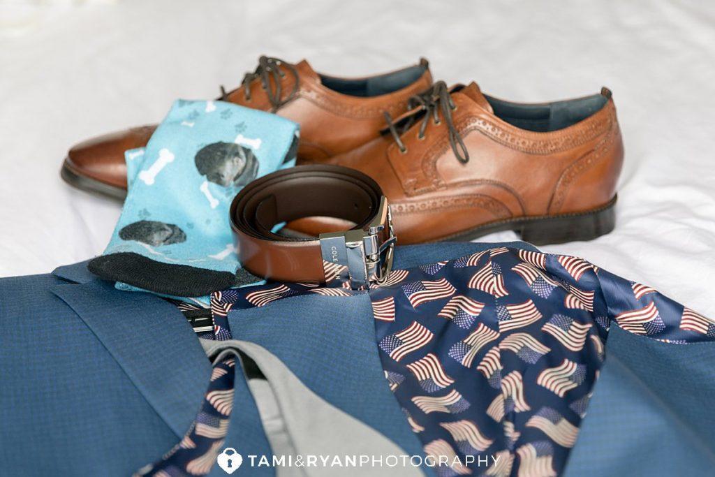 groom wedding suit details