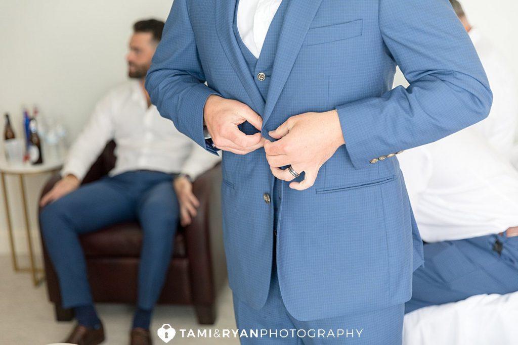 groom getting ready renault winery