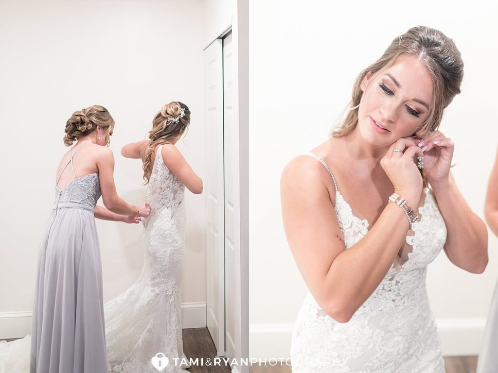 bride getting ready renault winery